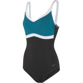 speedo Aquajewel - Bañador Mujer - negro/Azul petróleo